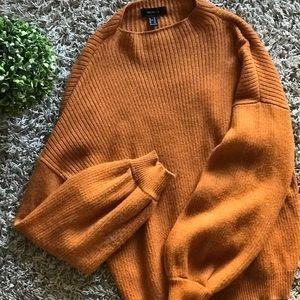 Forever21+ mock neck sweater (camel)